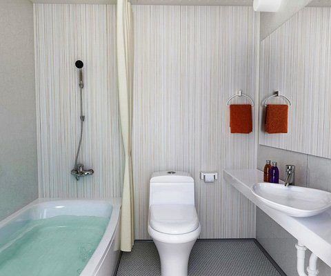 . Modular Bathroom   The Attic Room Design